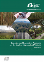Experimental Ecosystem Accounts for the Central Highlands of Victoria: Appendices
