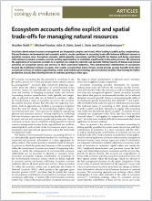 Ecosystem accounts define explicit and spatial trade-offs for managing natural resources