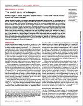 The social costs of nitrogen