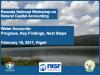 Presentation at Rwanda National Workshop on Natural Capital Accounting Water Accounts: Progress, Key Findings, Next Steps