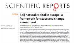 Soil natural capital in Europe