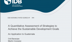 A Quantitative Assessment of Strategies to Achieve the Sustainable Development Goals - An Application to Guatemala