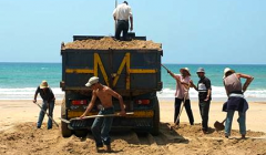 Sand extraction in Morocco