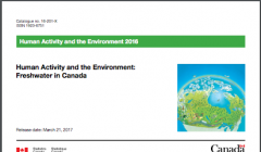 Human Activity and the Environment 2016 Freshwater in Canada